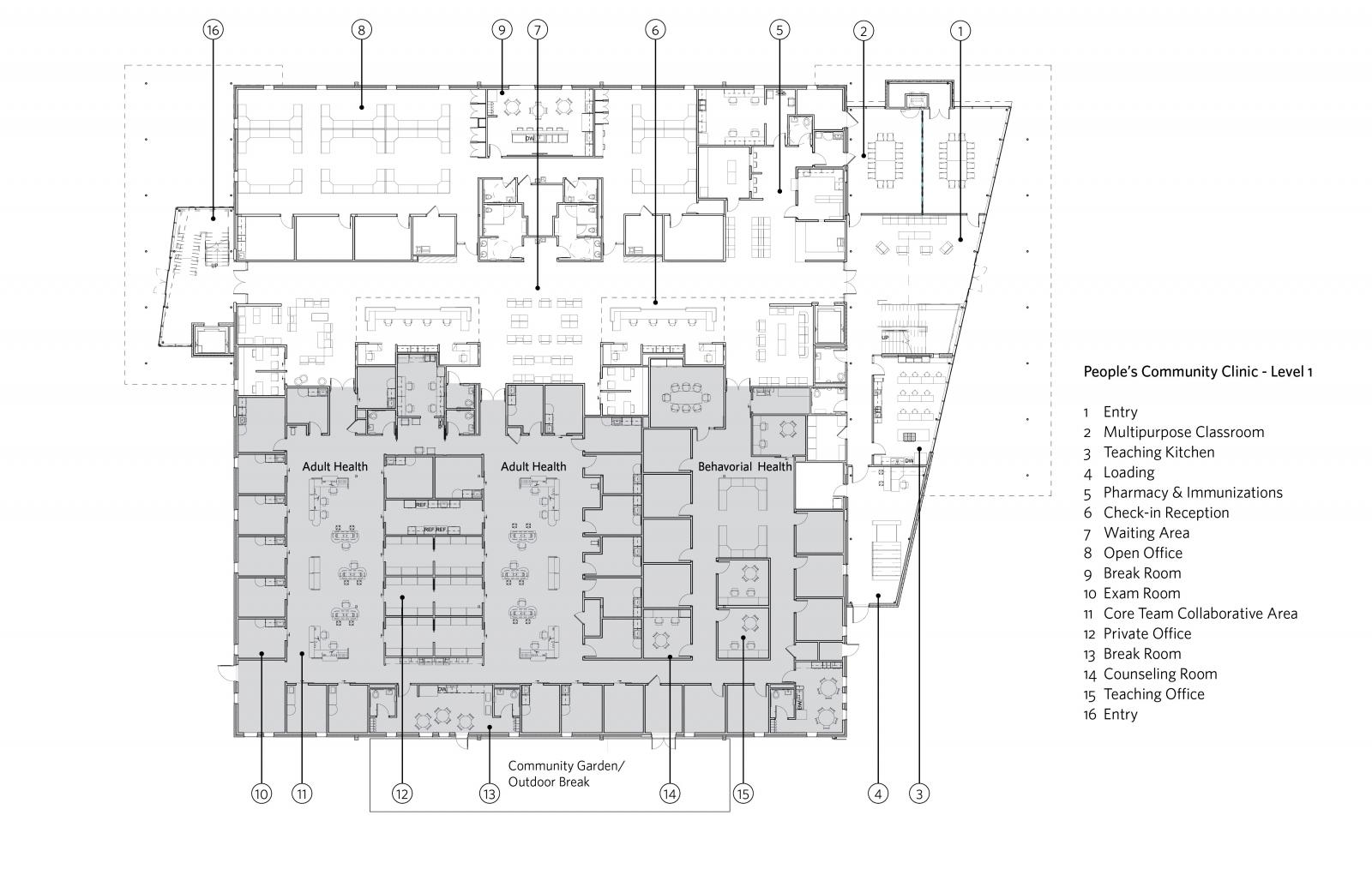 Teaching Kitchen Floor Plan excellence in design awards | winners